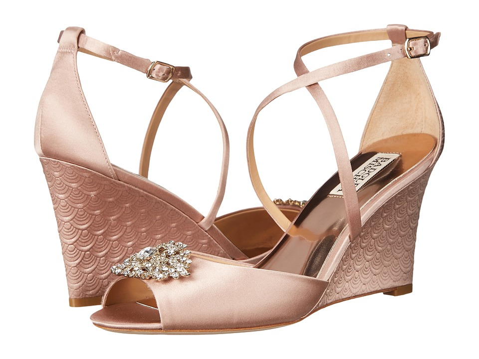 Badgley Mischka Abigail (Blush Satin) Women