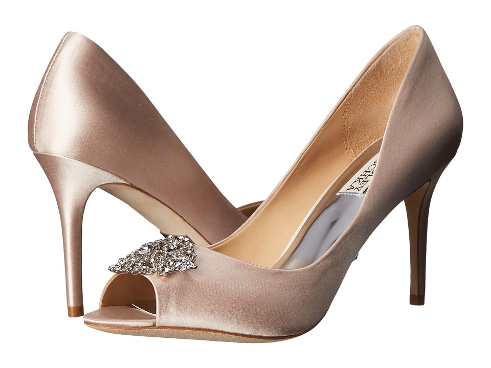 Badgley Mischka - Accent (Light Pink Satin) High Heels