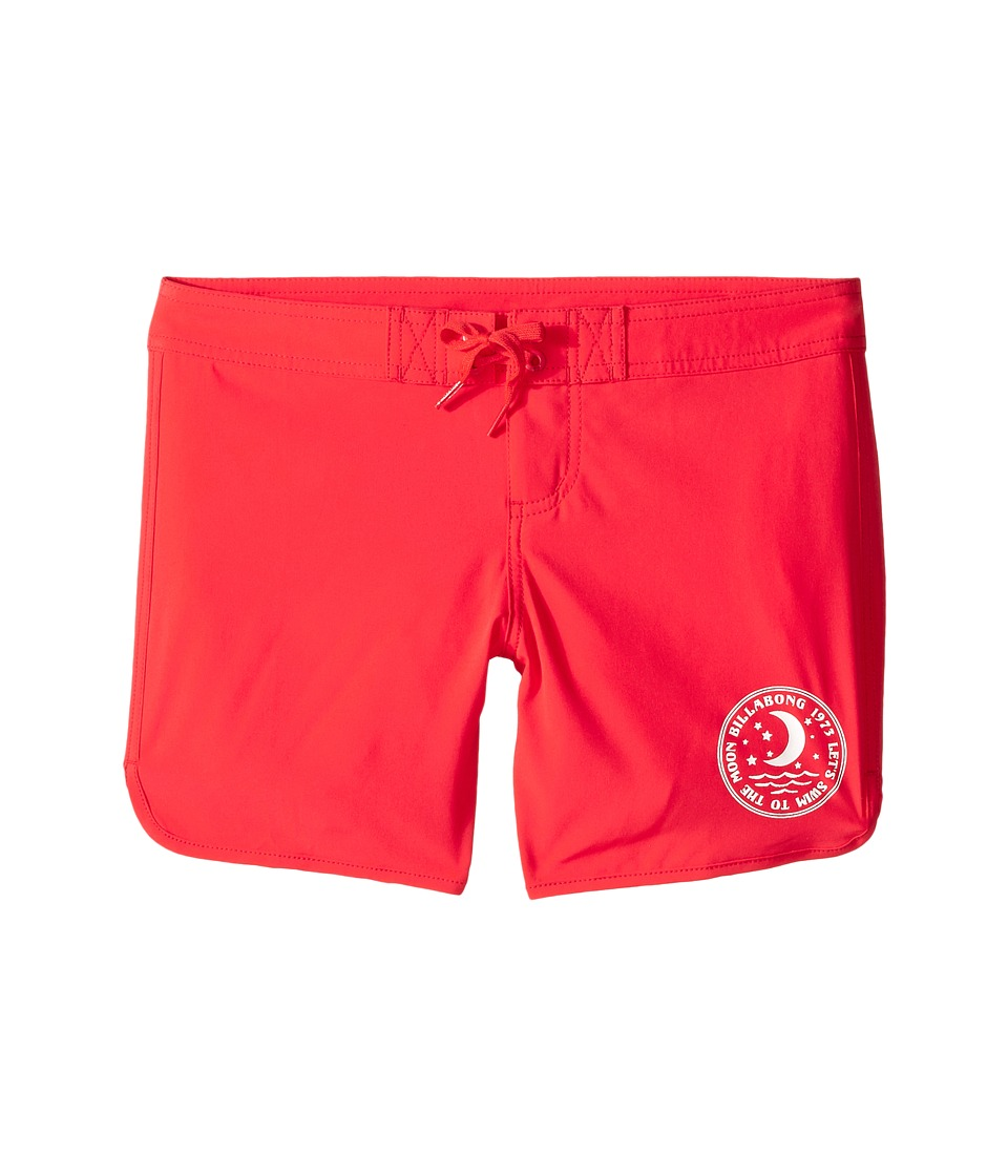 Billabong Kids - Sol Searcher 5 Fixed Boardshorts (Little Kids/Big Kids) (Red Hot) Girl's Swimwear