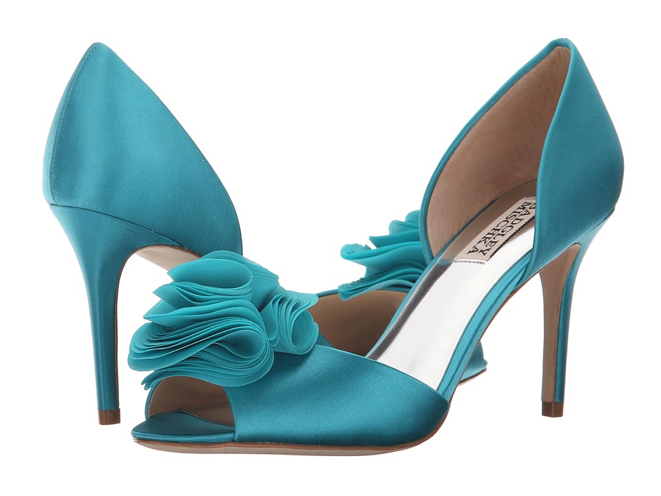 Badgley Mischka - Amaze (Turquoise Satin) High Heels