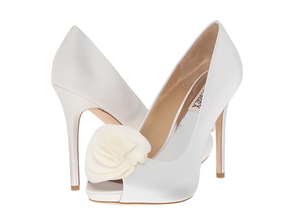 Badgley Mischka - Amber (White Satin) High Heels