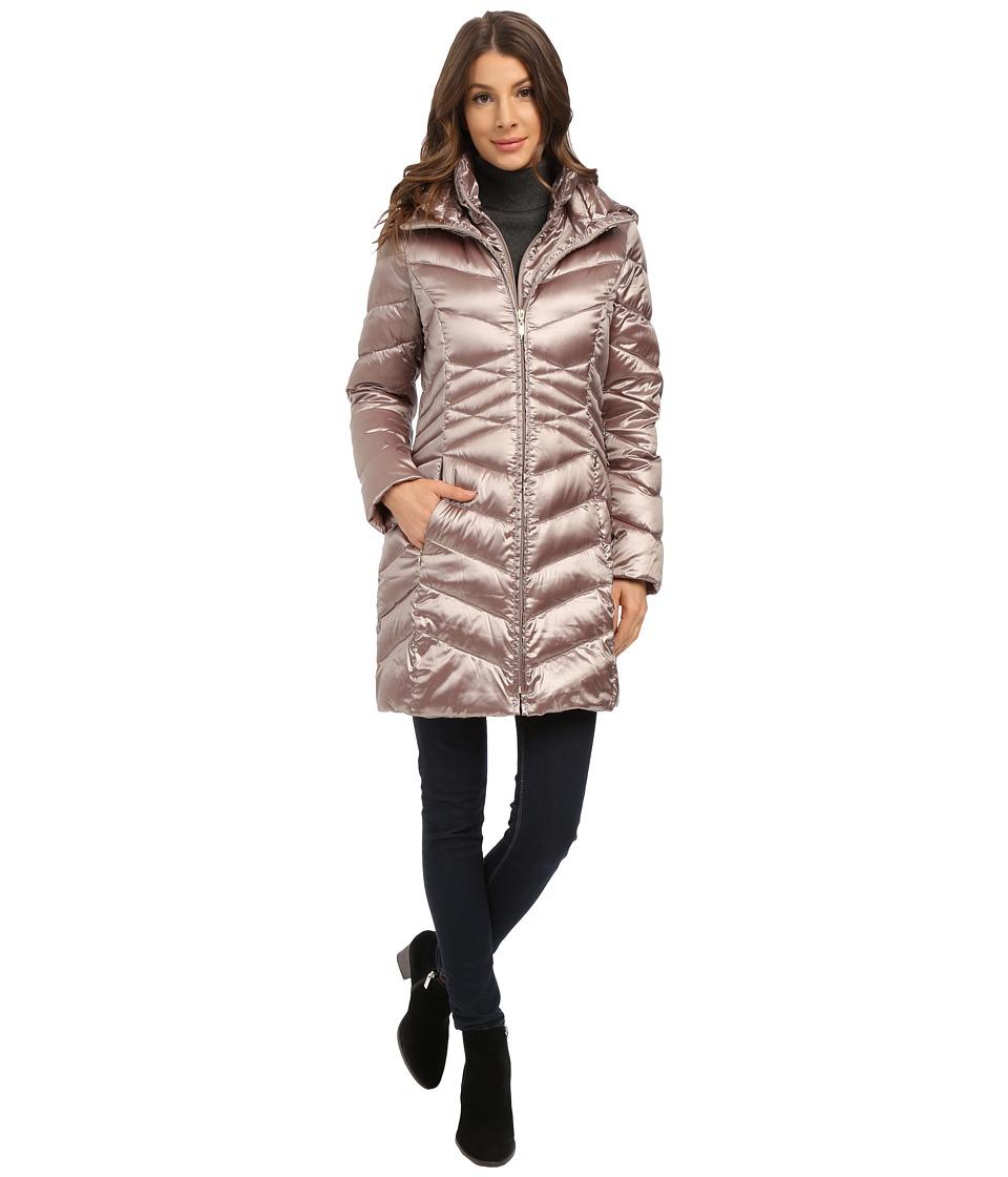 Ellen Tracy - Center Front Zip Packable Down w/ Vestie (Bronze) Women's Coat