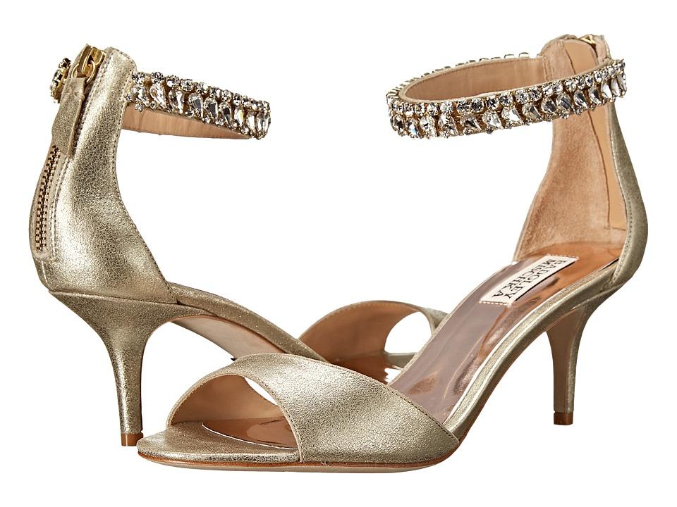Badgley Mischka - Angel II (Platino Metallic Kid Suede) Women's 1-2 inch heel Shoes