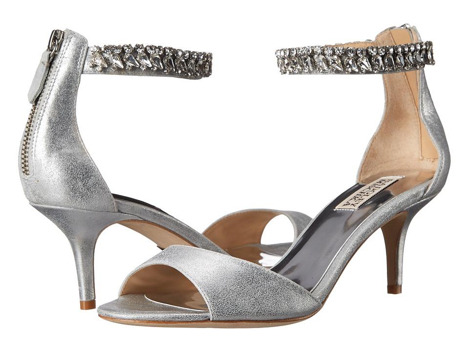 Badgley Mischka - Angel II (Silver Metallic Kid Suede) Women's 1-2 inch heel Shoes