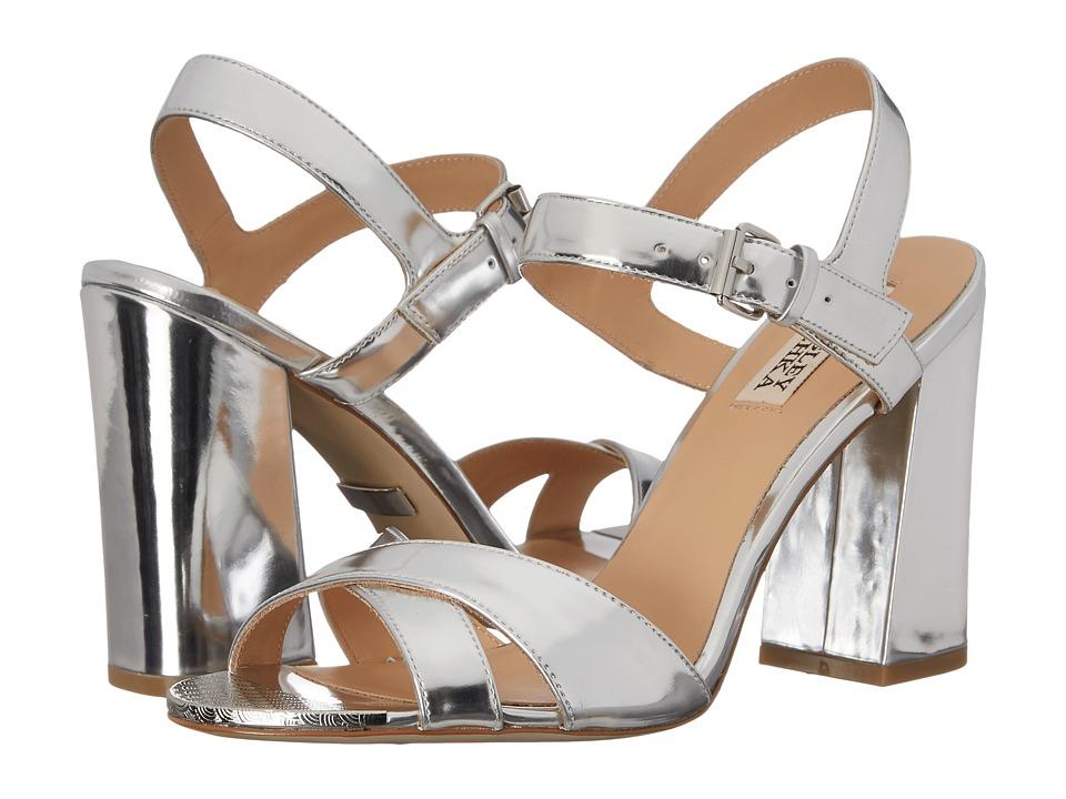 Badgley Mischka - Ascot (Silver Specchio Kid Leather) High Heels
