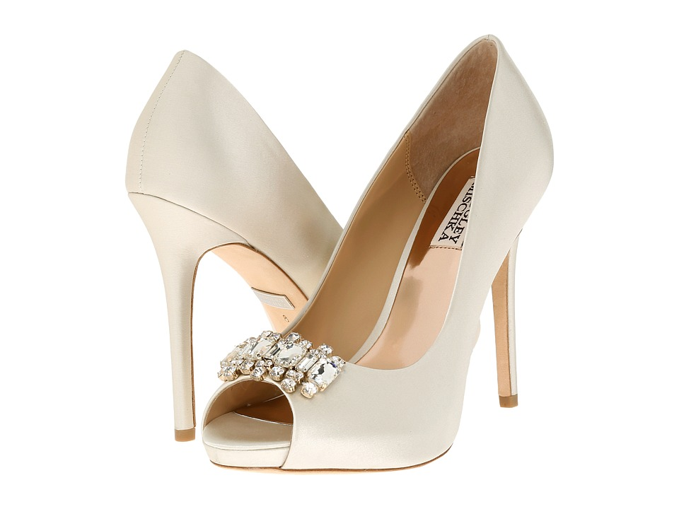 Badgley Mischka - Alter (Ivory Satin) High Heels