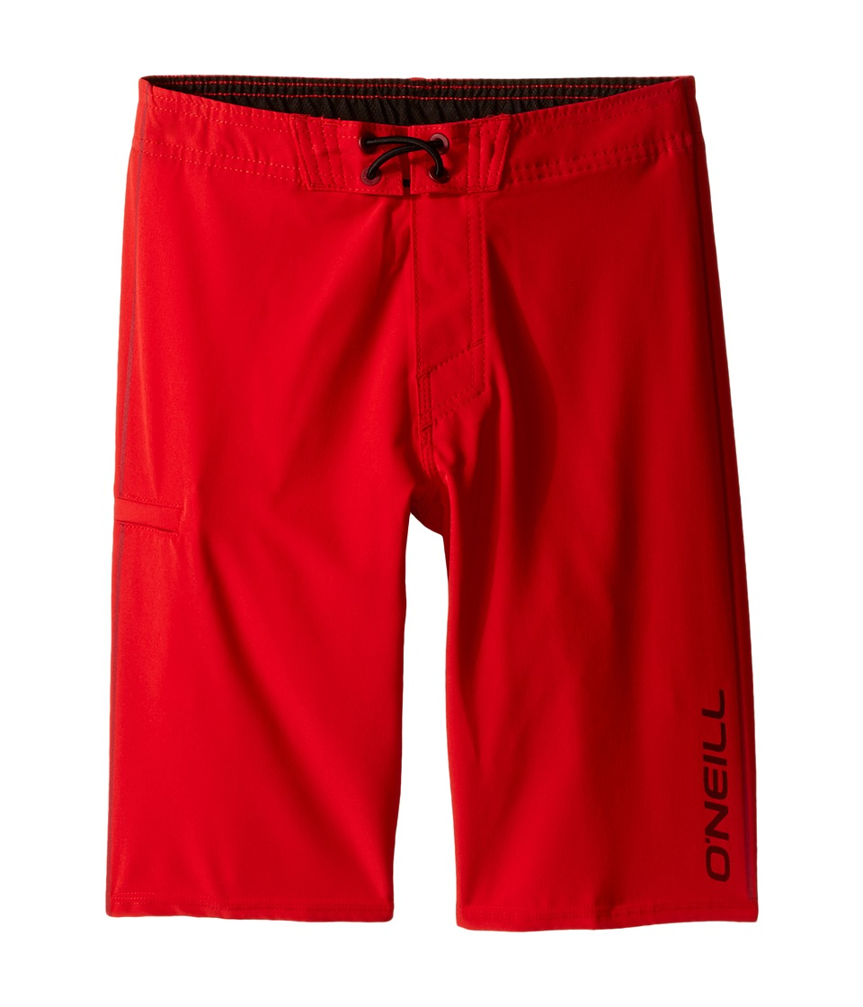 O'Neill Kids - Hyperfreak Solid Boardshorts (Little Kids) (Red) Boy's Swimwear