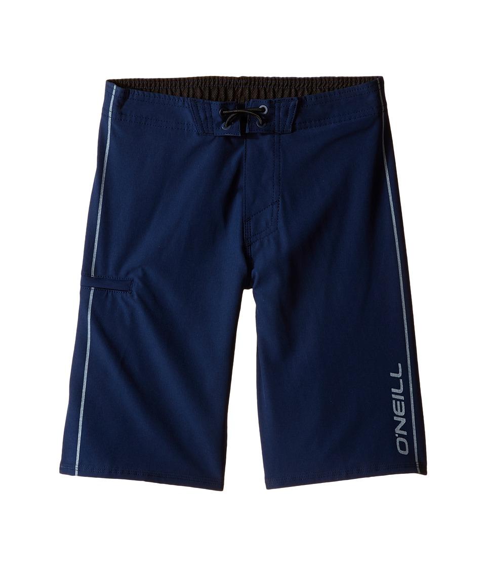 O'Neill Kids - Hyperfreak Solid Boardshorts (Little Kids) (Navy) Boy's Swimwear