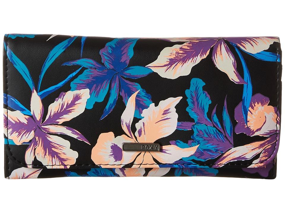 Roxy - My Long Eyes Wallet (True Black/Maui Lights) Wallet Handbags