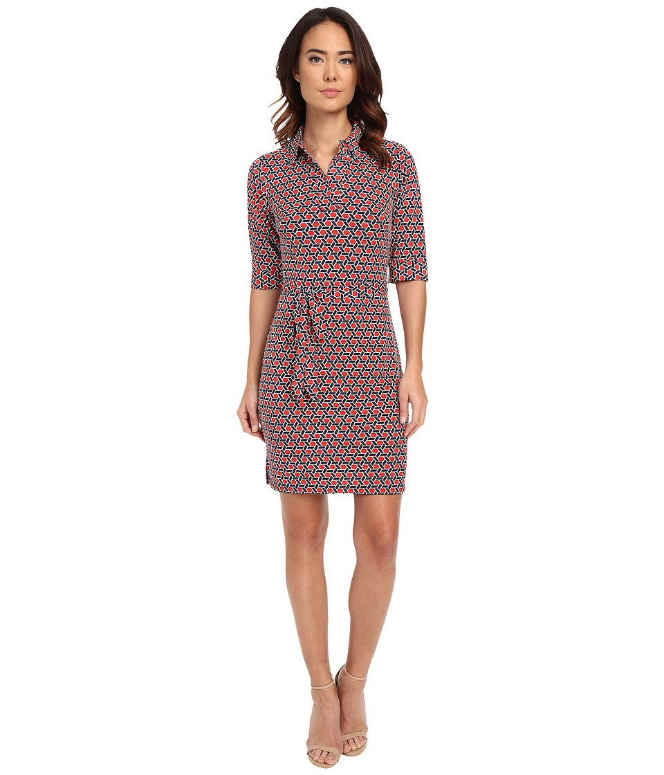 Laundry by Shelli Segal Movie Star' Matte Jersey Shirt Dress