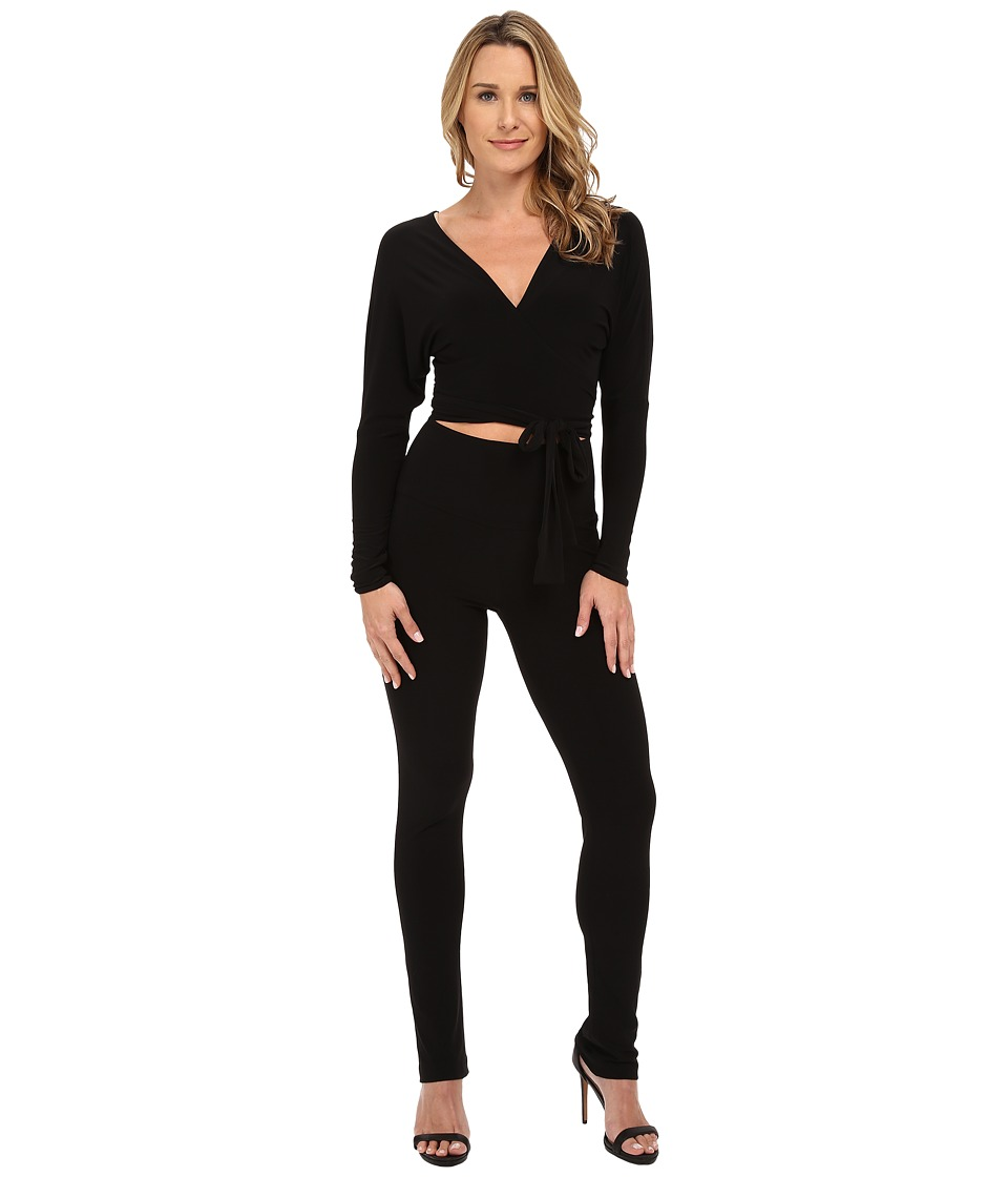KAMALIKULTURE by Norma Kamali - Dolman Wrap Jumpsuit (Black) Women's Jumpsuit & Rompers One Piece