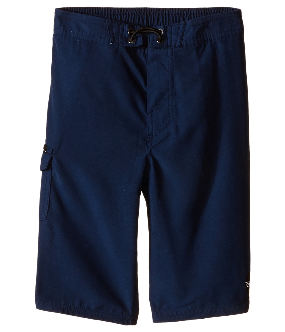 O'Neill Kids - Santa Cruz Solid Boardshorts (Little Kids) (Navy) Boy's Swimwear