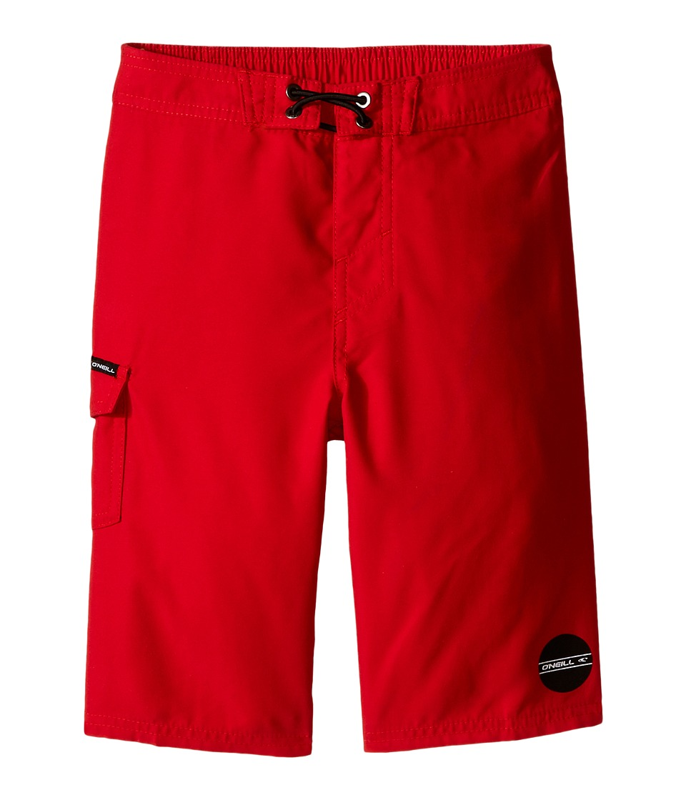 O'Neill Kids - Santa Cruz Solid Boardshorts (Little Kids) (Red) Boy's Swimwear