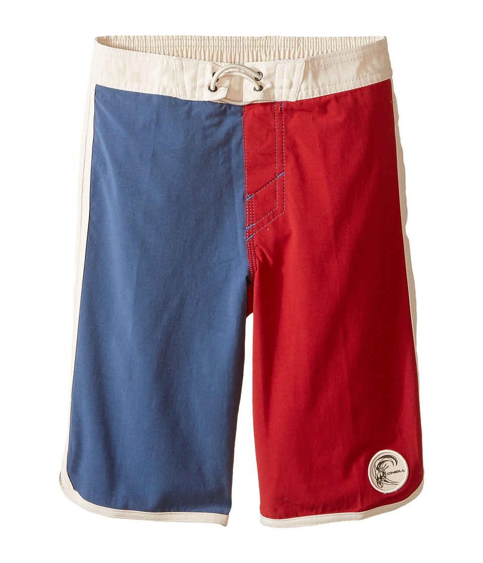 O'Neill Kids - Retrofreak Scallop Boardshorts (Little Kids) (Blue) Boy's Swimwear