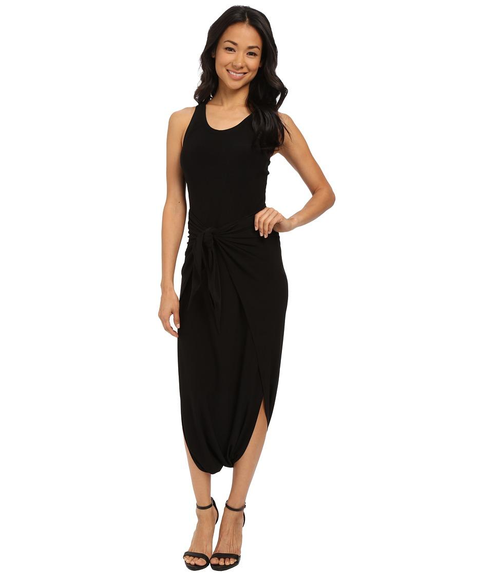 KAMALIKULTURE by Norma Kamali - Racer Diaper Dress (Black) Women's Dress
