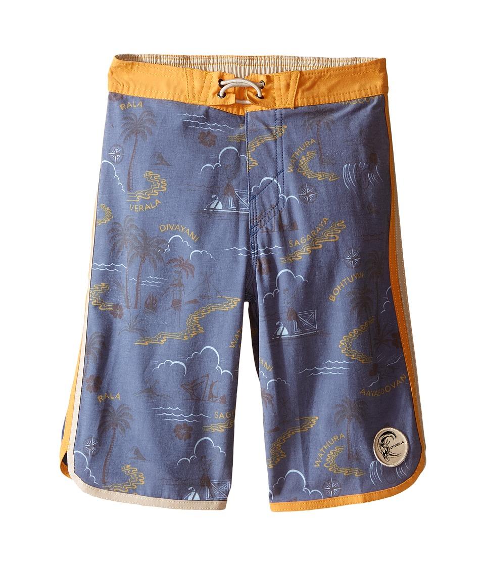 O'Neill Kids - Retrofreak Hook Boardshorts (Little Kids) (Blue) Boy's Swimwear