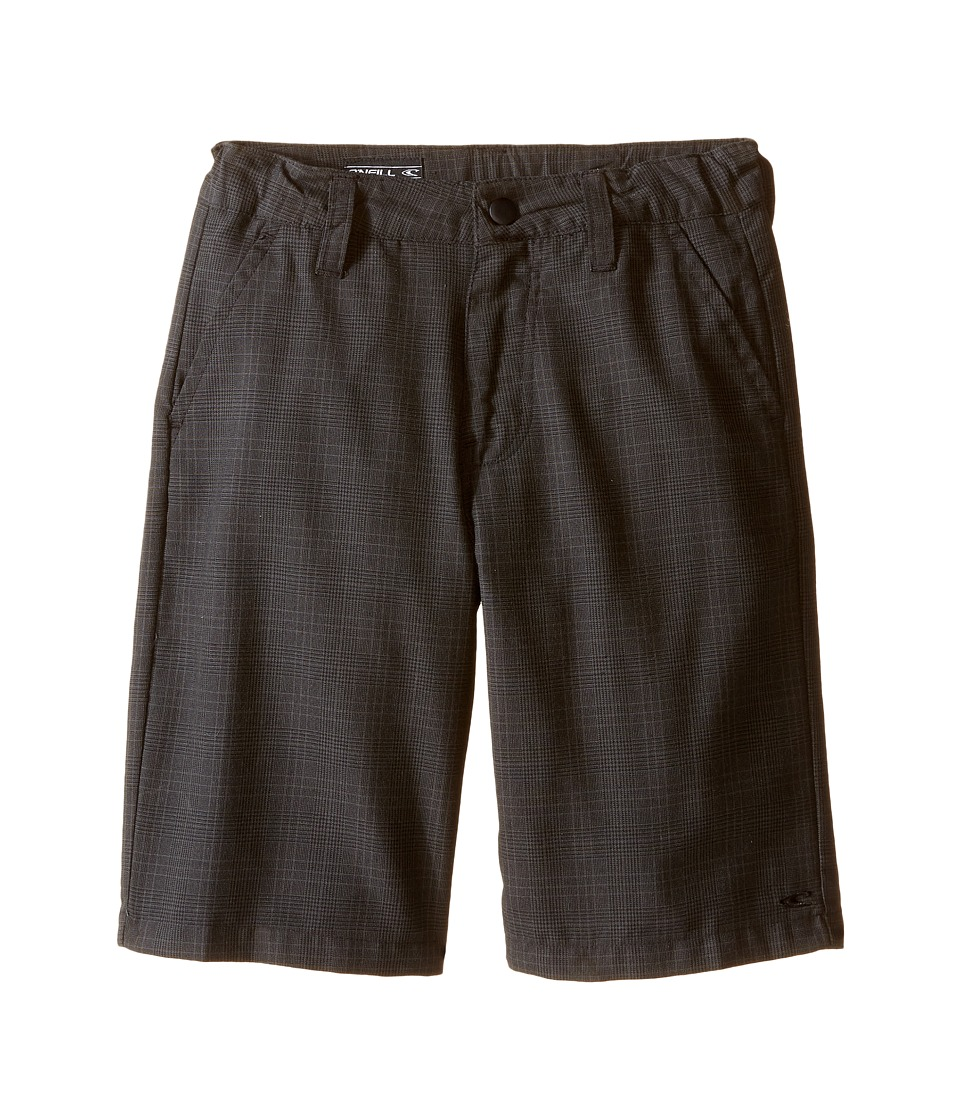 O'Neill Kids - Delta Plaid Shorts (Little Kids) (Black) Boy's Shorts