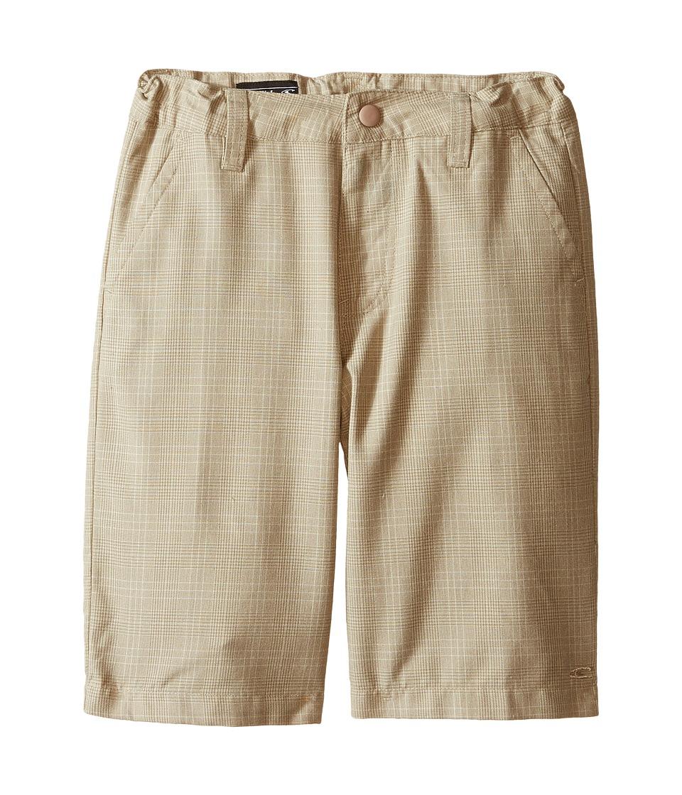 O'Neill Kids - Delta Plaid Shorts (Little Kids) (Dark Stone) Boy's Shorts