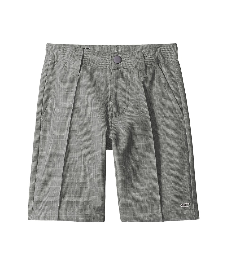 O'Neill Kids - Delta Plaid Shorts (Little Kids) (Grey) Boy's Shorts