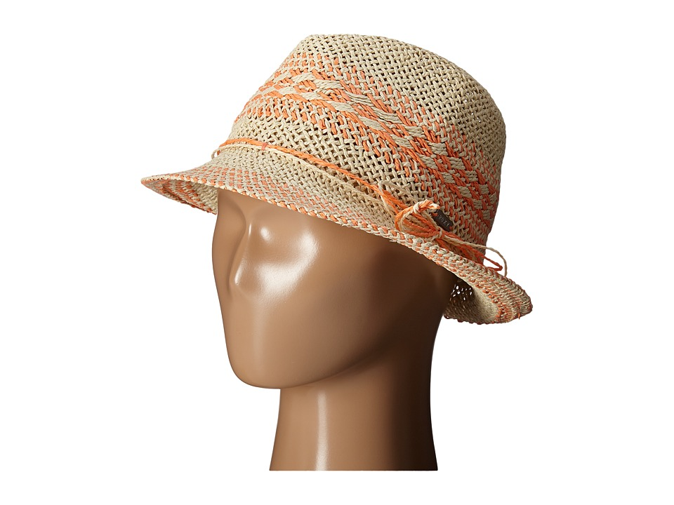 Roxy - Big Swell Straw Fedora Hat (Warm Sand) Fedora Hats