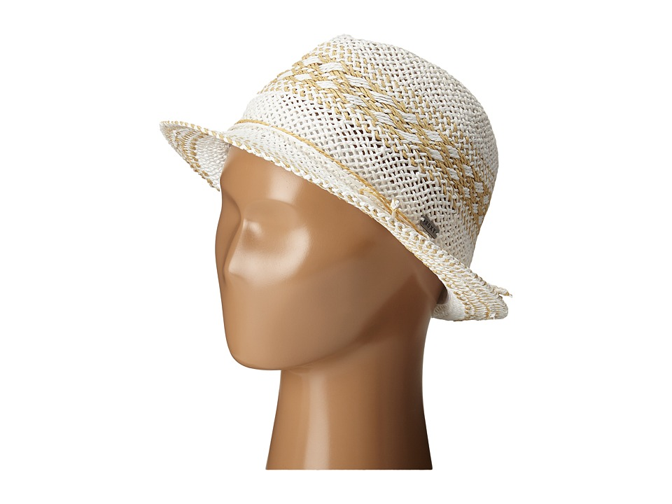 Roxy - Big Swell Straw Fedora Hat (White) Fedora Hats