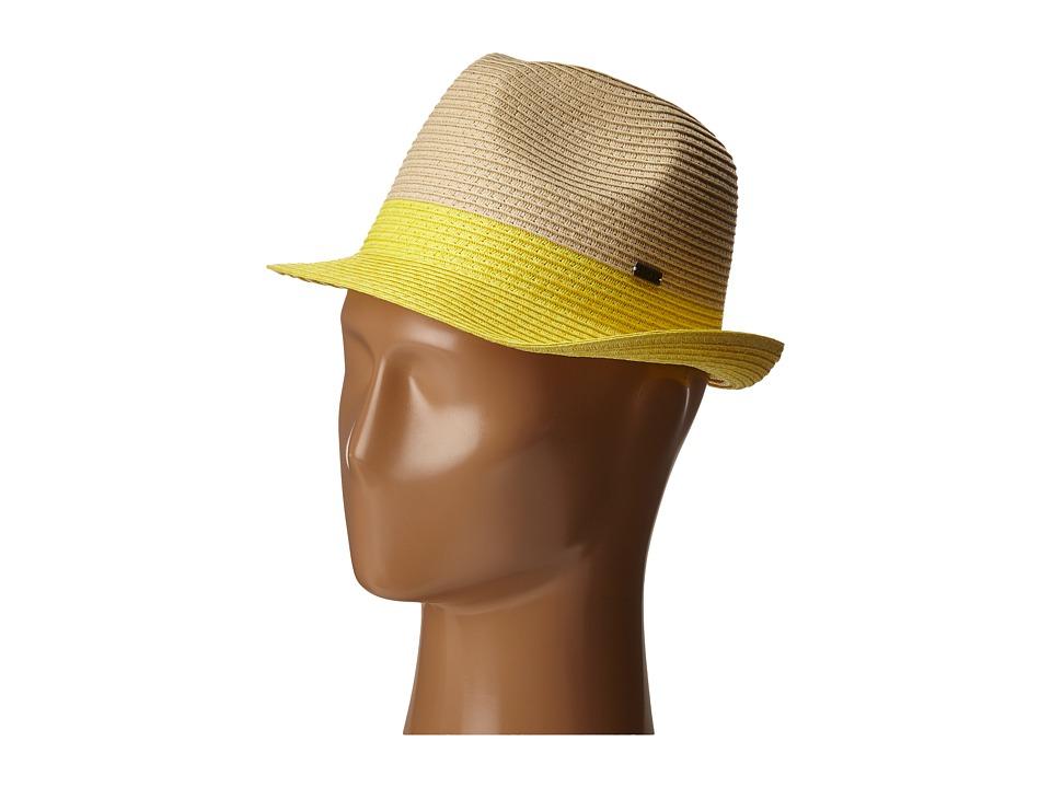 Roxy - Monoi Straw Fedora Hat (Citrus) Fedora Hats