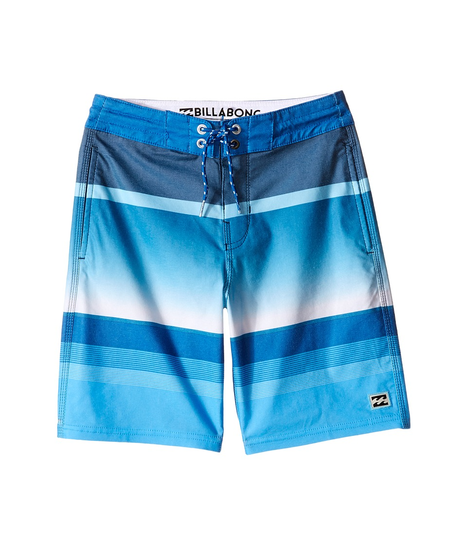 Billabong Kids - Spinner Lo Tides Boardshorts (Big Kids) (Blue) Boy's Swimwear