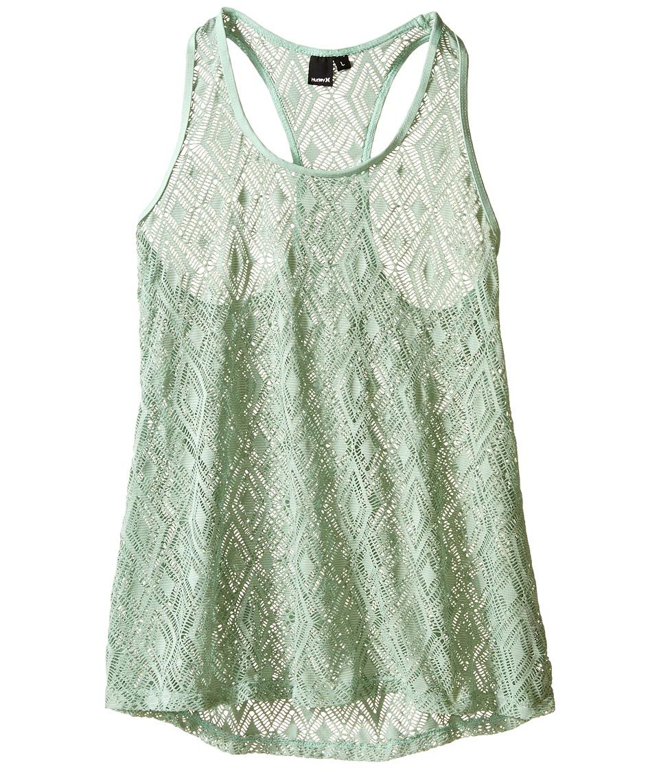 Hurley Kids - Diamond Cut Tunic Cover-Up (Big Kids) (Green) Girl's Swimwear