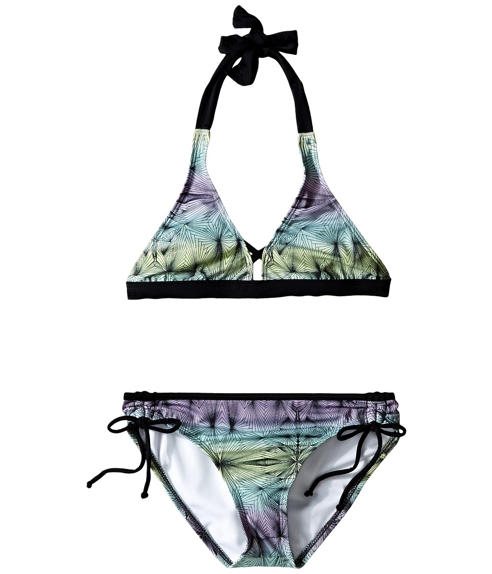 Hurley Kids - Fine Lines Halter Top Tunnel Bottom (Big Kids) (Purple) Girl's Swimwear Sets