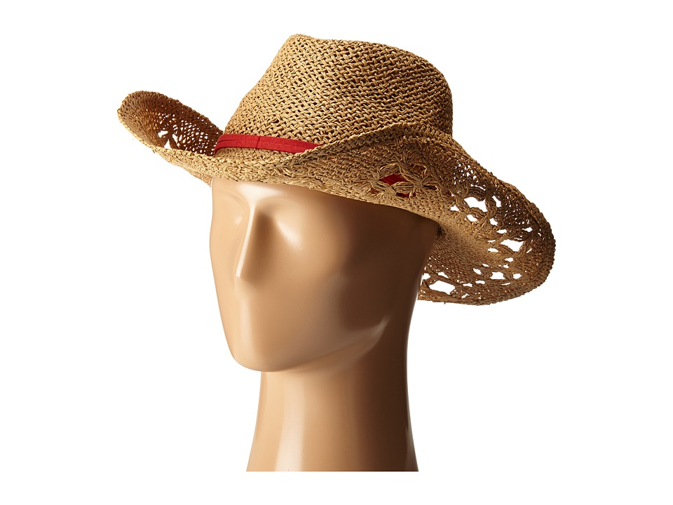 Roxy - Cowgirl Straw Hat (Deep Taupe) Traditional Hats