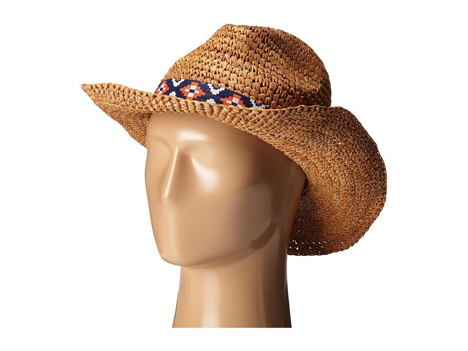 Roxy - Cantina Straw Fedora Hat (Natural) Traditional Hats