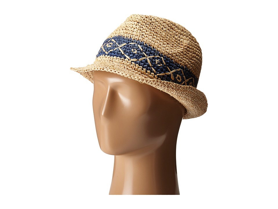 Roxy - Witching Straw Fedora Hat (Chambray) Traditional Hats