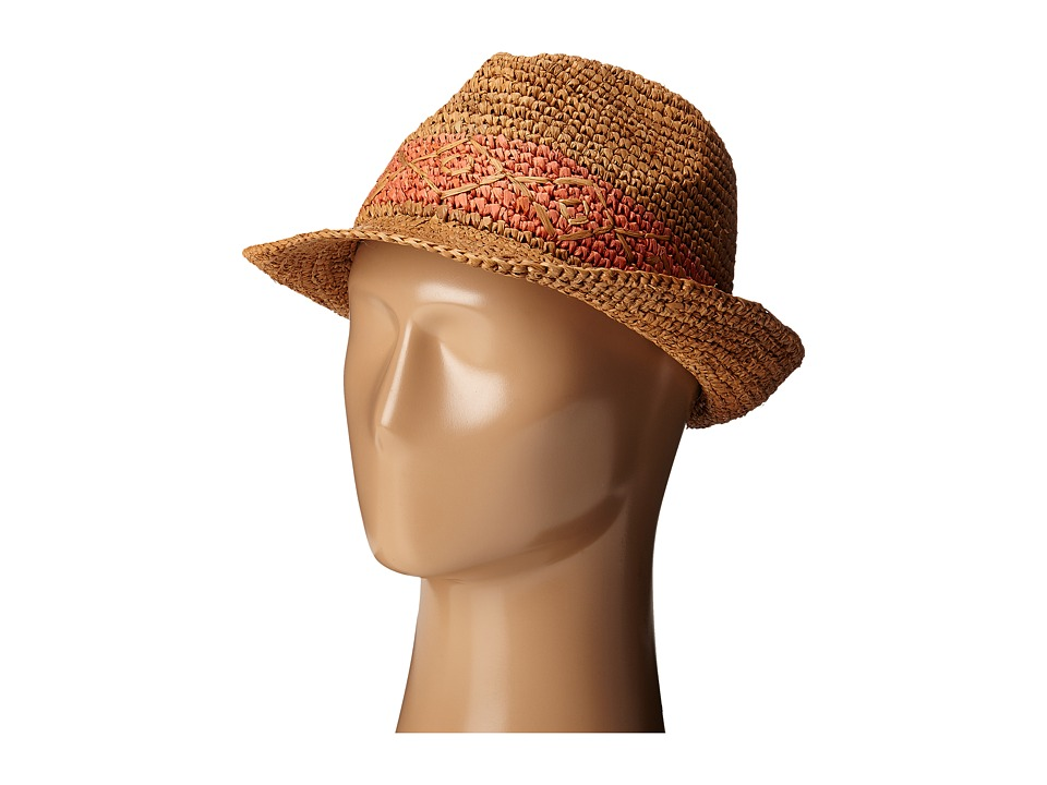 Roxy - Witching Straw Fedora Hat (Chilli) Traditional Hats