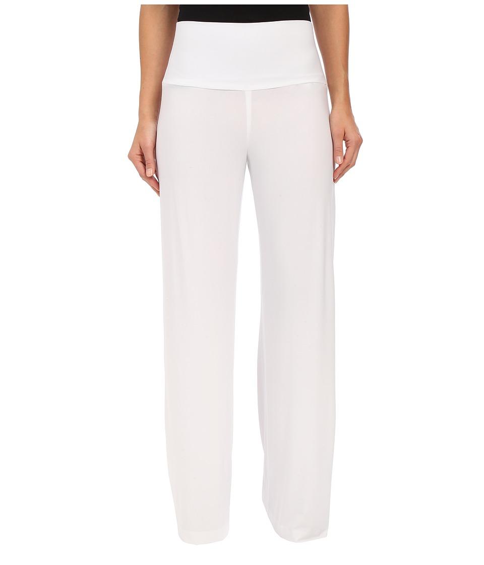 KAMALIKULTURE by Norma Kamali - Straight Long Go Pants (White) Women's Casual Pants