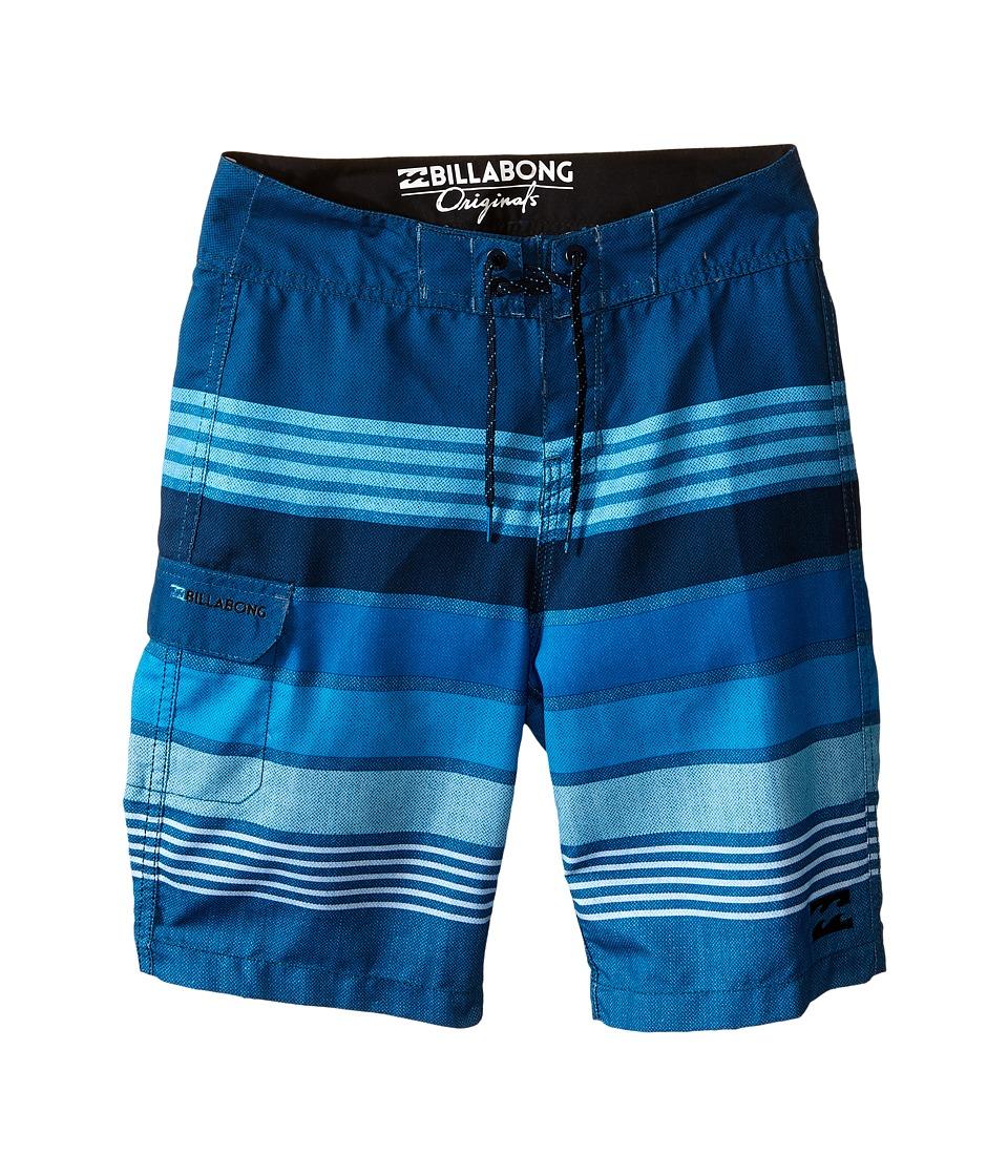 Billabong Kids - All Day Stripe (Big Kids) (Blue) Boy's Swimwear