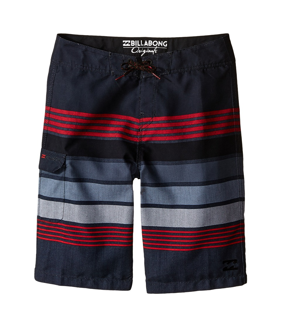 Billabong Kids - All Day Stripe (Big Kids) (Stealth) Boy's Swimwear