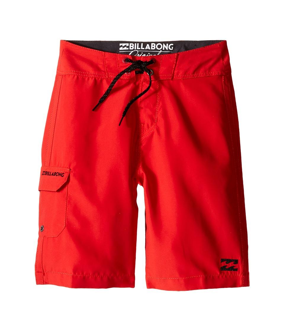 Billabong Kids - All Day Boardshorts (Big Kids) (Bright Red) Boy's Swimwear