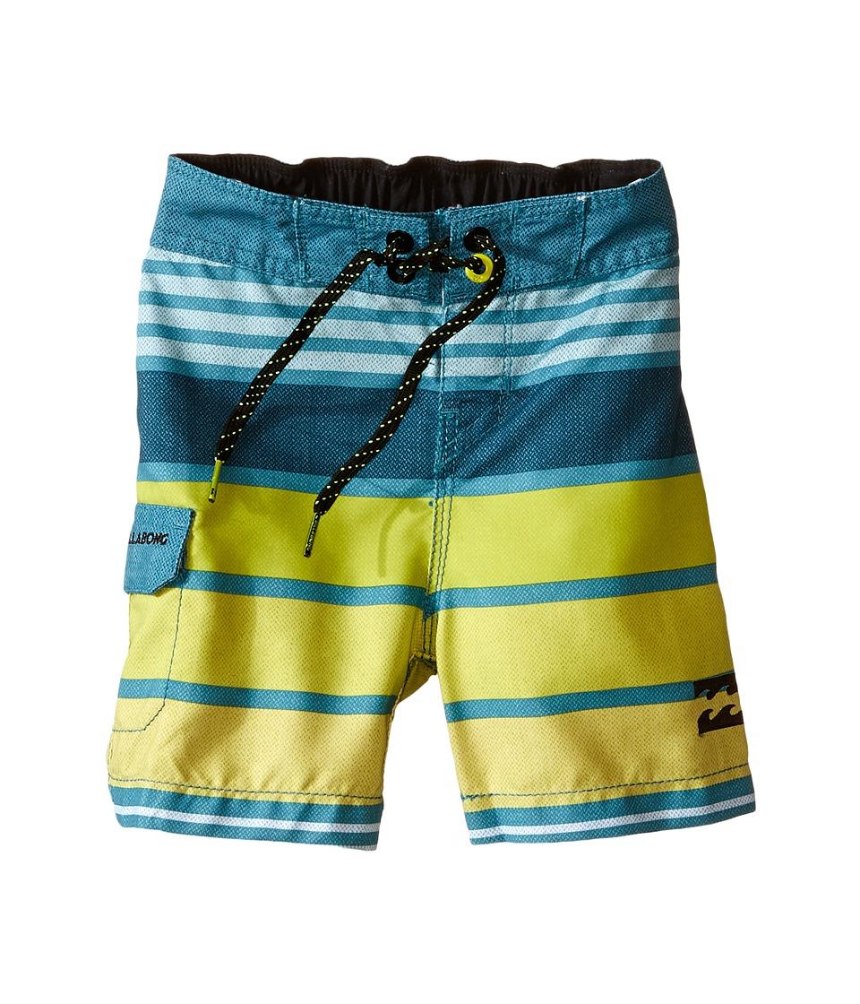 Billabong Kids - All Day Stripe Boardshorts (Toddler/Little Kids) (Overcast) Boy's Swimwear