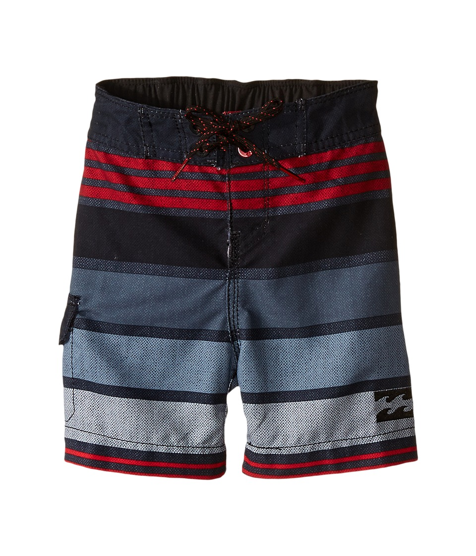 Billabong Kids - All Day Stripe Boardshorts (Toddler/Little Kids) (Stealth) Boy's Swimwear