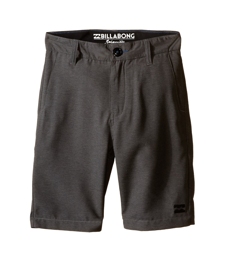 Billabong Kids - Carter Heather Submersible Shorts (Big Kids) (Dark Grey Heather) Boy's Shorts