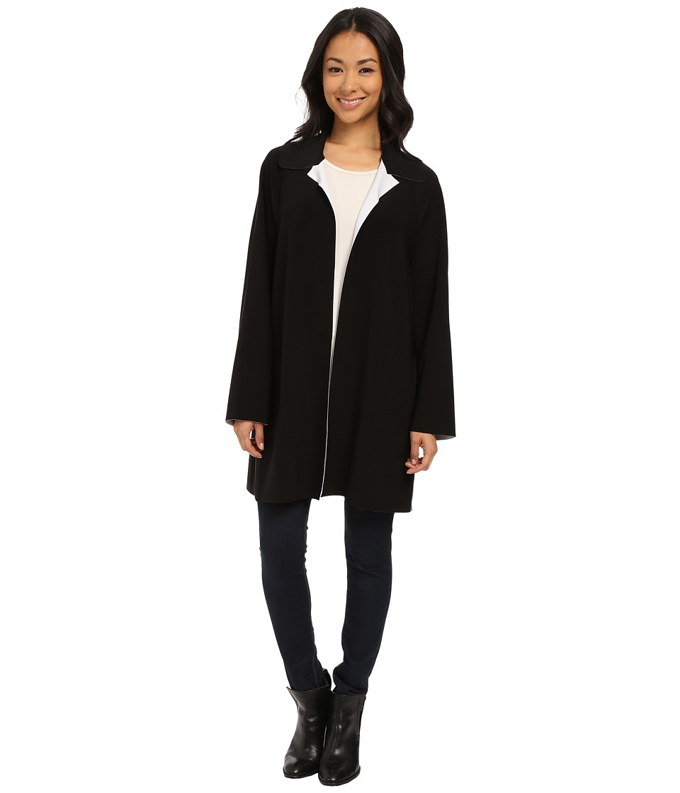 KAMALIKULTURE by Norma Kamali - Bonded Reverse Trench Coat (Black) Women's Coat