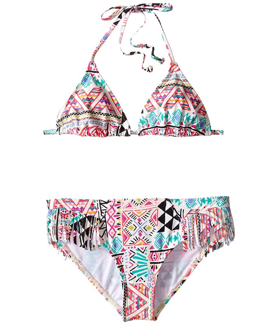Billabong Kids - Mystical Madness Triangle Swimsuit (Little Kids/Big Kids) (Multi) Girl's Swimwear Sets