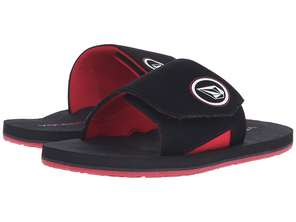 Volcom Kids - Stryker Slide (Little Kid/Big Kid) (Rad Red) Boys Shoes