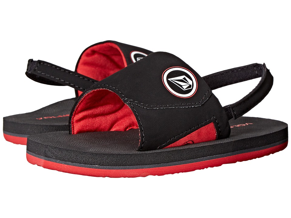Volcom Kids - Stryker Slide (Toddler/Little Kid) (Rad Red) Boys Shoes