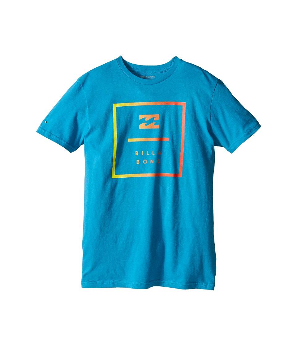 Billabong Kids - Block T-Shirt (Big Kids) (Bright Blue) Boy's T Shirt