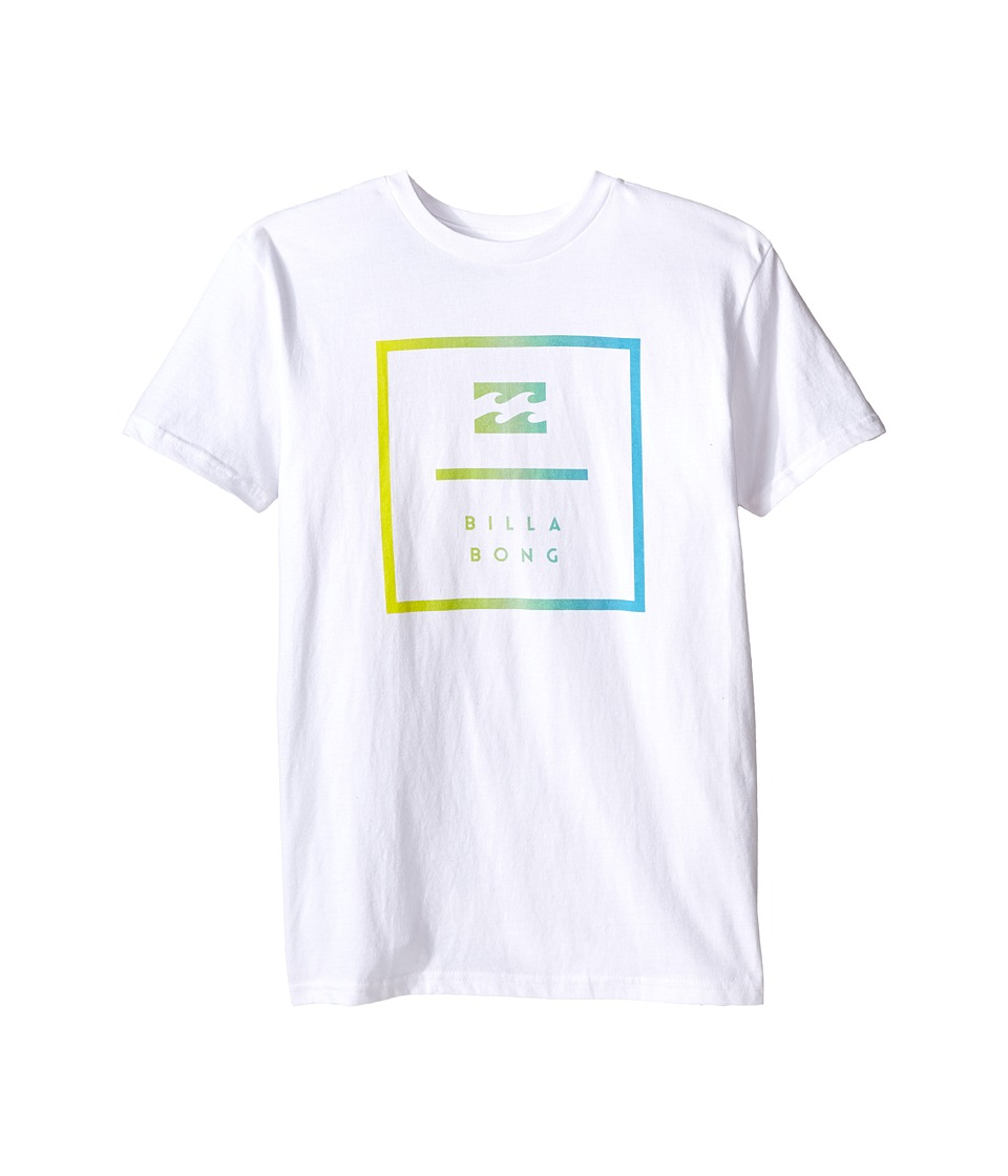 Billabong Kids - Block T-Shirt (Big Kids) (White) Boy's T Shirt