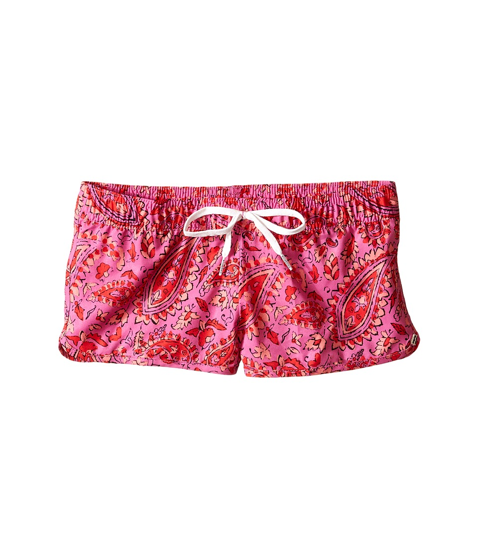 Billabong Kids - Penny Paisley 1.5 Volley Shorts (Little Kids/Big Kids) (Pretty Pink) Girl's Swimwear