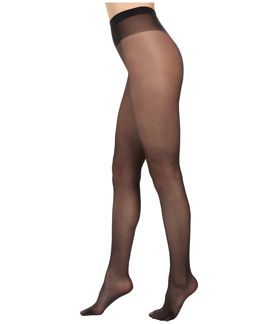 Wolford - Aimee Tights with Swarovski Crystals (Black/Hematite) Women's Workout