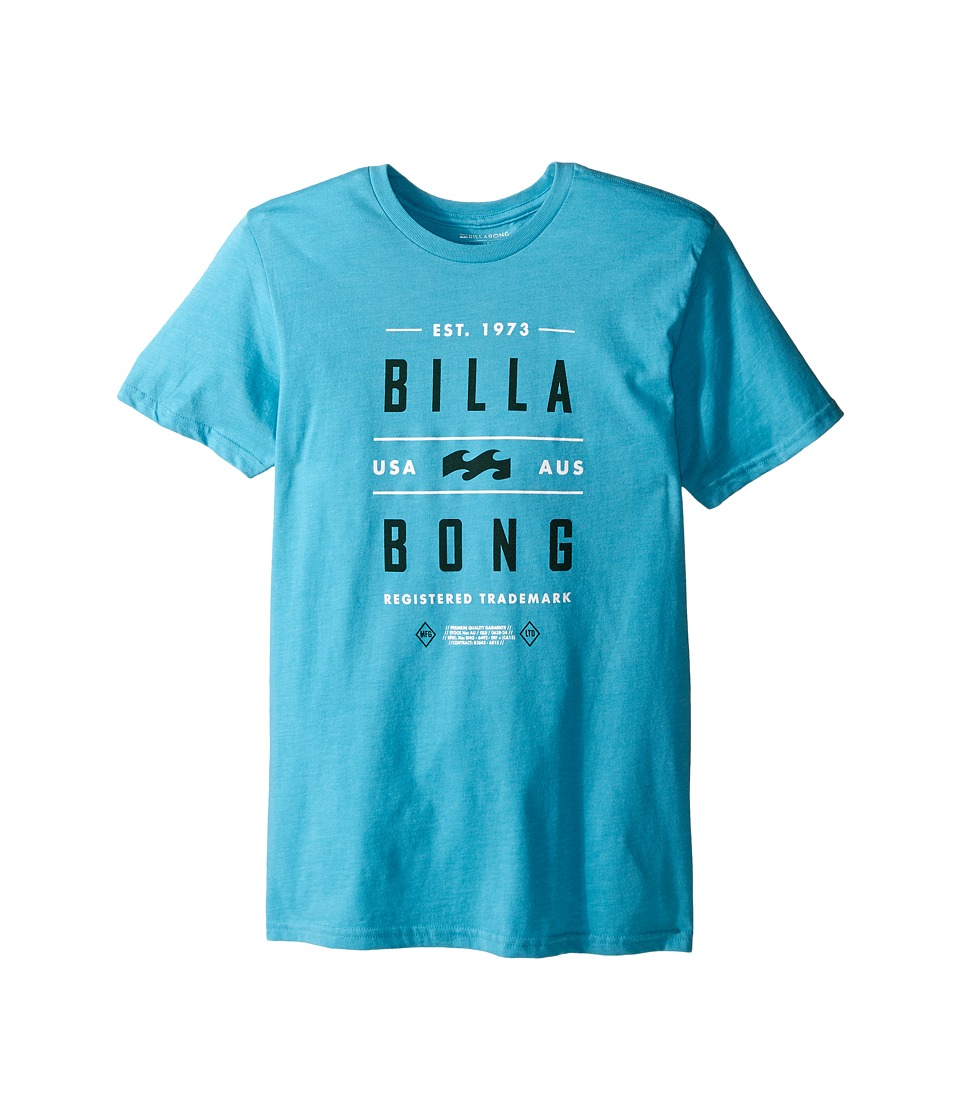 Billabong Kids - Mast T-Shirt (Big Kids) (Aqua Heather) Boy