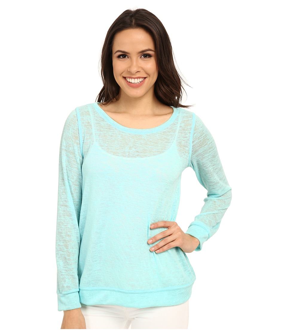 Lilly Pulitzer - Bayberry Top (Poolside Blue) Women's Long Sleeve Pullover